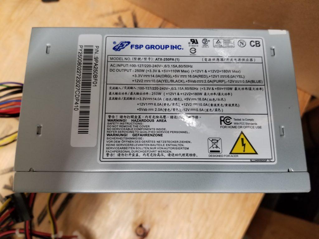 FSP Grouping ATX-250PA