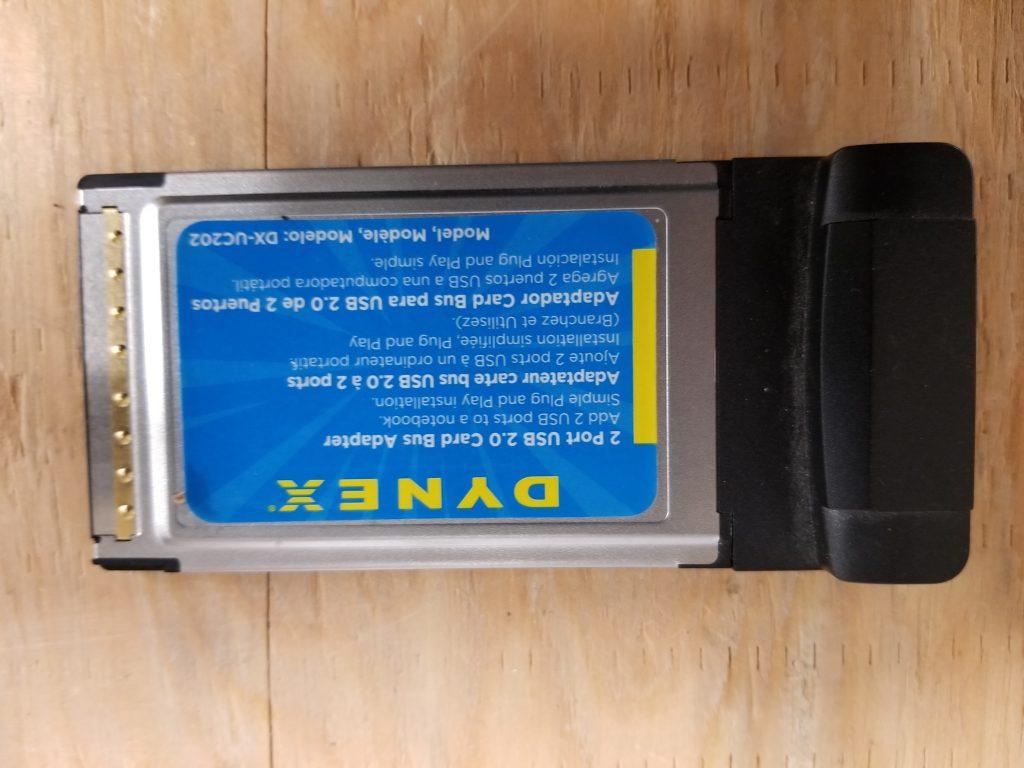 DYNEX DX-UC202 2-Port USB 2.0 CARD BUS ADAPTER w/ 2 HIGH SPEED USB PORTS